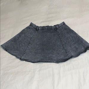 Acid Wash Jean Skater Skirt